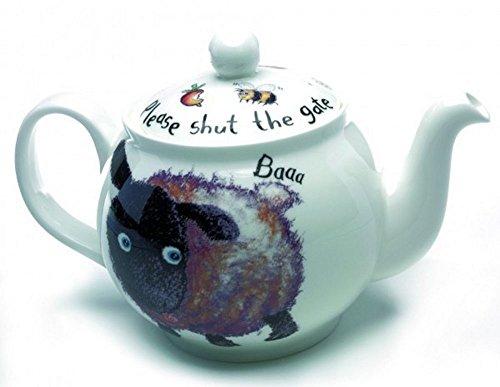 Roy Kirkham Please Shut the Gate 'Sheep' Large 6 Cup Teapot in Fine Bone China by Roy Kirkham Fine China Teapot