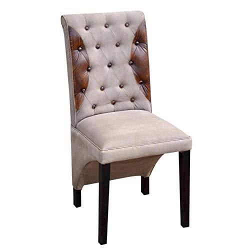 Canapé-en-ligne Chaise - VICTOR - Chaise bois/coton / cuir - Jolipa 45123 - Vendu