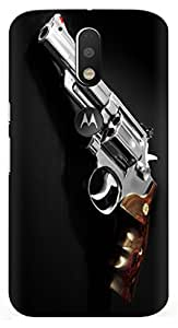 Kizil TM Designer Printed Light Weight Back Case Cover for Moto G4 Plus / Moto G4 / Back Cover Moto G4 Plus (With Free Transparent Back Cover)