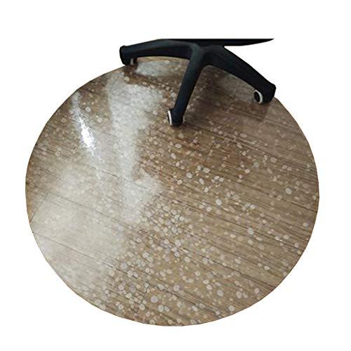 Xiao Jian- PVC Rutschfeste Stuhlmatte Harter Bodenschutz   Runde Kopfsteinform   Durchmesser 80/90/100/120 cm   1,5 mm dick Teppich (größe : 120cm) -
