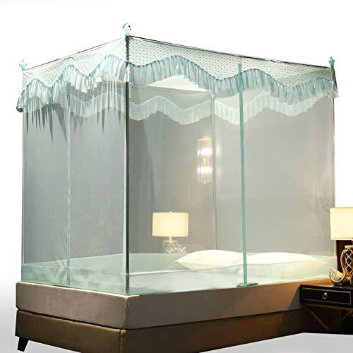 4 Ecke Baldachin,spitze Moskitonetze,elegante Premiun Vorhang Auf Netting Baldachin Für Twin,vollständige Bett,feines Netz Und Anti-mosquito-grün Queen1 - Bett Baldachin-twin