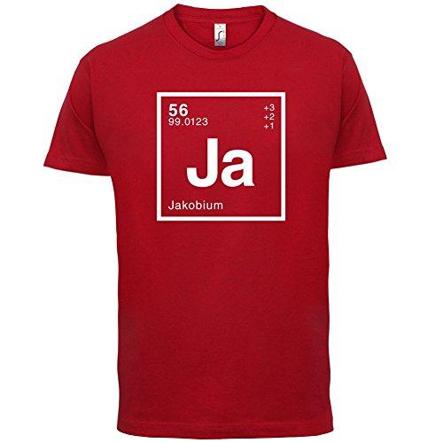 Jakob Periodensystem - Herren T-Shirt - 13 Farben Rot