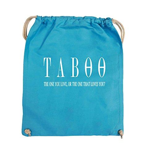 Borse Comedy - Taboo - Logo2 - Borsa Girevole - 37x46cm - Colore: Nero / Argento Azzurro / Bianco