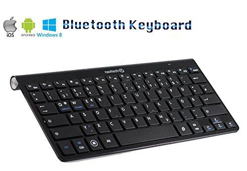 Navitech QWERTZ Bluetooth-Tastatur kompatibel mit demMedion lifetab P7331 / Medion Lifetab S10321