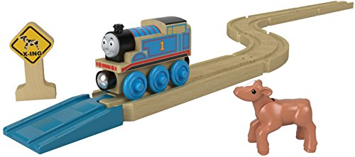 Thomas and Friends Pack de Pistas de Coches de Juguete de Madera Rectas y Curvas (Mattel FKF54)