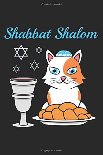 Shabbat Shalom: 6x9 Zoll ca. DIN A5 Judentum Notizheft leer | 120 Seiten leeres Judentum Notizbuch für Notizen in Schule, Universität, Arbeit oder zuhause. | Eine tolles Geschenk für Ihre Liebsten.