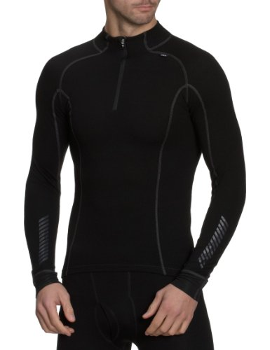 2016 HELLY HANSEN WARM FREEZE 1/2 ZIP BASE LAYER BLACK 48852 SIZES    SMALL