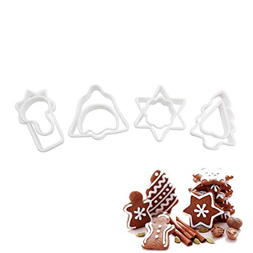 Cookie Tools - 8 Pcs Plastic Biscuit Christmas Mold Cake Fondant Mould Cookie Cutter Diy Baking Set - Decorating Kids Accessories Tools Cutter Fondant Milling Cutters Cooky Chocolate Dinosau