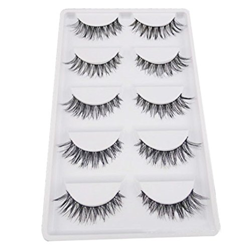 Ouneed® 5 Pair/Lot Crisscross False Eyelashes Lashes Voluminous HOT Eye Lashes