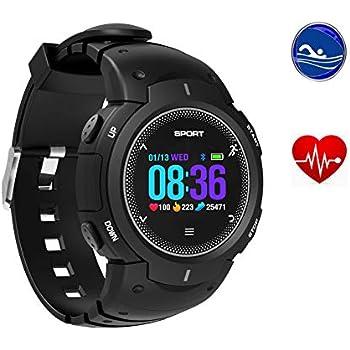 Yunzhengfei Reloj de Natacion,A Prueba de Polvo Golpes, monitorización de la frecuencia cardíaca/rastreador de sueño/Podómetro/Adecuado para ...