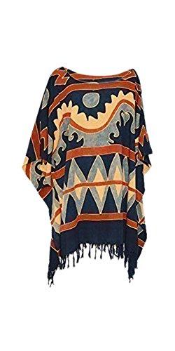 ethnic-boho-tribal-ladies-urban-top-beach-poncho-blouse-cover-gypsy-kaftan-shirt-black