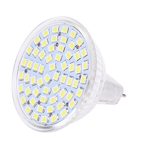 SODIAL(R) 6x G/GU/GX5,3 MR16 3528 SMD 60 LED Lampe AMPOULE SPOT Lumiere BULB BLANC 12V 4W