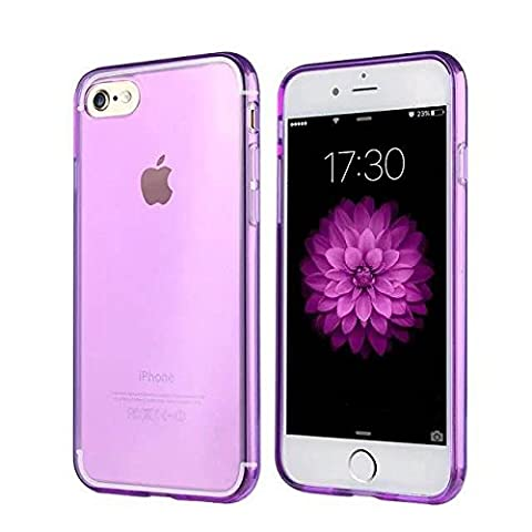 Coque de protection pour iPhone 7 PURPLE, The Flame Store en silicone (TPU) Lisse Protection Slide Anti Case Complete Ultra-Thin Slim