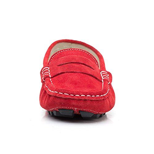 In Comodo Slittamento Il O Di Slip Pantofola Aa Tutti I Suo Durante Indossare Il Rosso Da on Camoscio Libero Giorni rui Scarpe Tempo SqtIwF