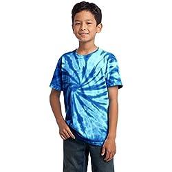 Port & Company Juventud Essential Tie-Dye camiseta Azul azul cobalto X-Large
