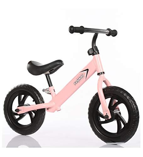 SXMXO 12 Zoll Balance Fahrrad Kinder, Kohlenstoffstahl Ohne Pedale ultraleichte zum Kinder und Kleinkinder 2 bis 6 Jahre,Pink