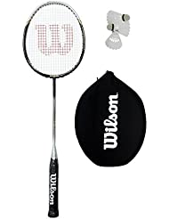 Wilson Carbon Raquette de Badminton and 3 Shuttles