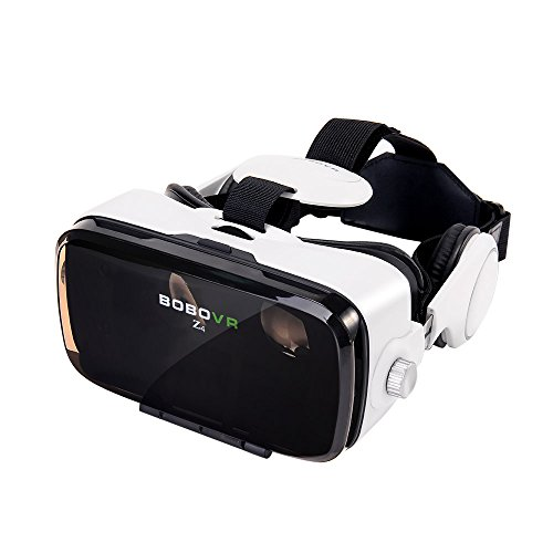 UPGRADED VERSION BOBOVR Z4 Xiaozhai Z4 BOBOVR VR Headset 3D Glasses 120° FOV 3D VR Virtual Reality Headset 3D Movie Video Game Private Theater with Headphone for 4.0-6.0 inches Android IOS Smartphones