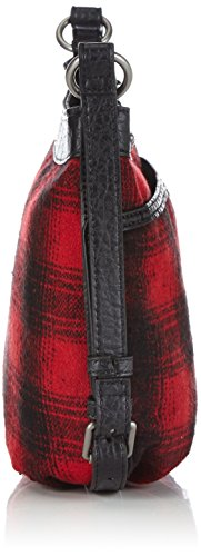Hilfiger Denim - Sabine Messenger 1, Borsa A Tracolla da donna Rosso (red biker plaid 847)