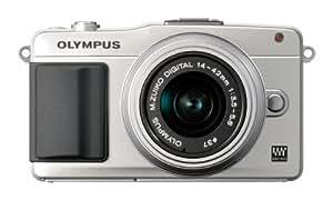 Olympus E-PM2 Kit boîtier Compact hybride 12 Mpix Noir + Objectif 14 42mm Argent