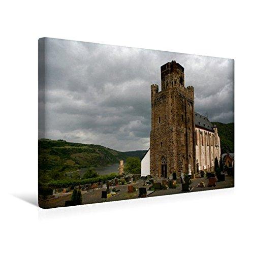 Premium Textil-Leinwand 45 cm x 30 cm quer, Wehrkirche St. Martin in Oberwesel am Rhein | Wandbild, Bild auf Keilrahmen, Fertigbild auf echter Leinwand, Leinwanddruck (CALVENDO Orte)