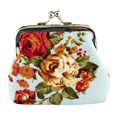 VJGOAL Damen Brieftasche, Frauen Mädchen Mode Drucken Brautbeutel Münztasche Schlüsselfall Handtasche(Hellblau,One size) -