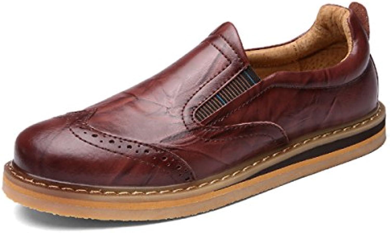 Herrenschuhe Geschnitzte Schuhe Leder Männer Freizeitschuhe Niedrige Schuhe Zu Helfen Schuhe