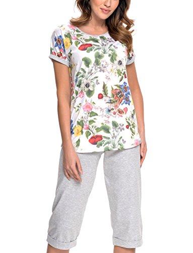 Dn-Nightwear PM.9028 Joli Confortable Pyjama – Fabriqué En UE Ecru