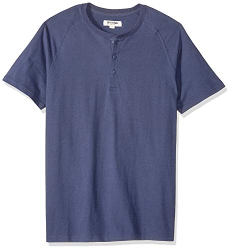 Goodthreads Short-Sleeve Sueded Jersey henley-shirts, Navy, US M (EU M) - Sueded Baumwoll-shirt