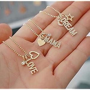 Namenskette - Echtschmuck - Halskette mit Namen - Charm Anhänger Halskette - Damenschmuck - Zirkonia - Initialkette