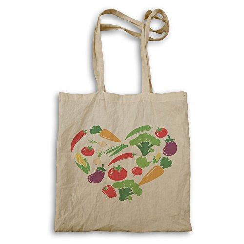 INNOGLEN vegetarische Liebe Gemüse Herzform Tragetasche cc236r