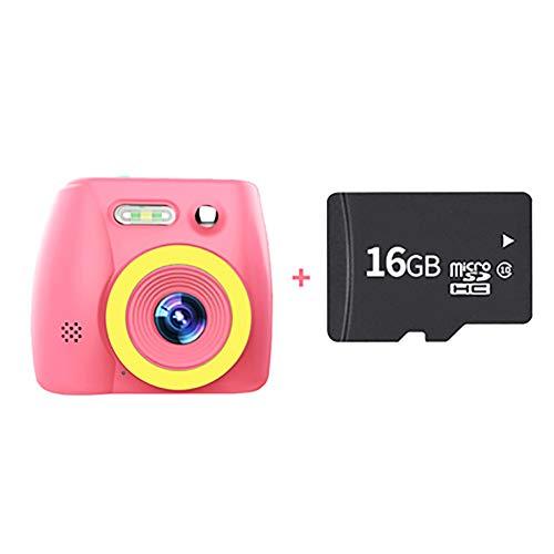 SHARESUN Kinder Digitalkamera 20MP SLR-Kamera 1080P HD-Videokamera für Mädchen/Jungen Geschenke - 2,0-Zoll-HD-Großbild-Action-Video-Camcorder, 16 GB TF-Karte im Lieferumfang enthalten,Pink