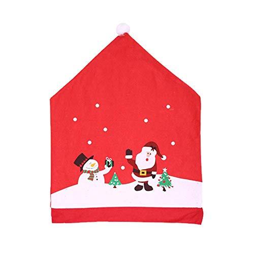 Fablcrew. Funda de Respaldo de Silla, decoración para Silla, decoración de Navidad,...