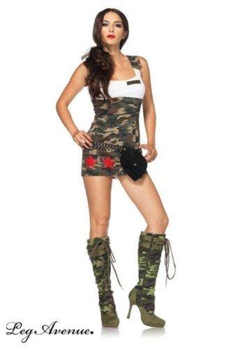 Leg Avenue 83775 - Combat Cutie Kostüm, Größe: L, ()