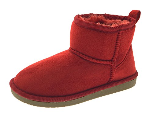 Lora Dora Womens Ladies Girls Kids Childrens Short Ankle Faux Fur Sheepskin Suede Classic Mini Snugg Boots Shoes Size UK 7-8