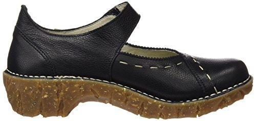 El Naturalista N095 Soft Grain Yggdrasil, Escarpins à Bout Fermé Femme Noir (Black)