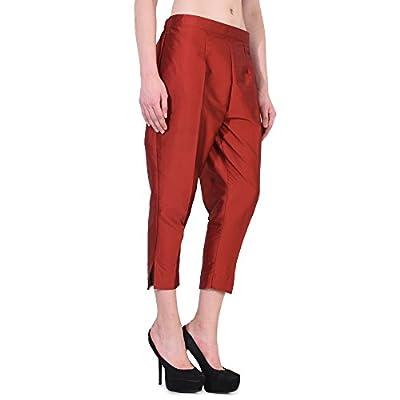 Jenee Ventures Fashionable Cropped Taffeta Pants for Women (9 Colors S-3XL)