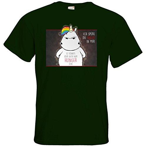 getshirts - Pummeleinhorn - T-Shirt - Die Macht Bottle Green