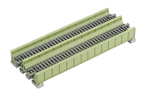 Kato 20-456 Double Track Plate Bridge 186mm Light Green