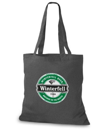 StyloBags Jutebeutel / Tasche Winterfell Beer Darkgrey