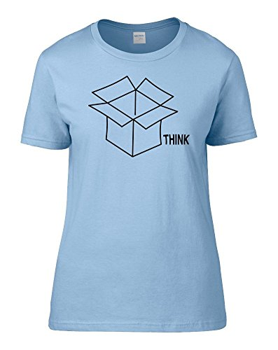 Think Outside The Box - Be Different Maglietta da donna da FatCuckoo Light Blue XX-Large