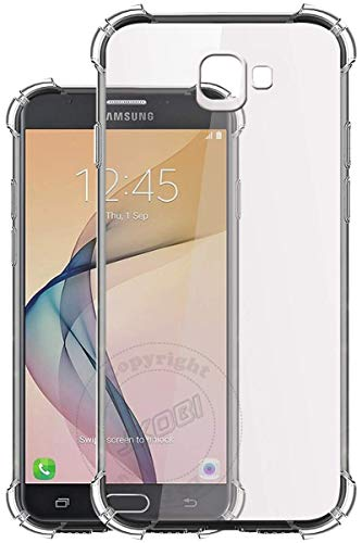 Jkobi Rubber Back Cover for Samsung Galaxy J5 Prime   Transparent