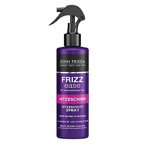 John Frieda Frizz Ease Hitzeschirm Hitzeschutz Spray mit Jojoba-Öl und Aloe-Blättern, 2er Pack (2 x 200 ml)