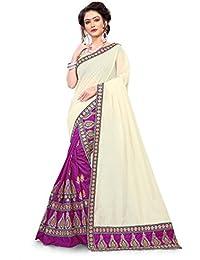 S Kiran's Women's Art Silk Magenta Mekhla Chanderi Chador - Mekhela Sador Saree - Dn 6848