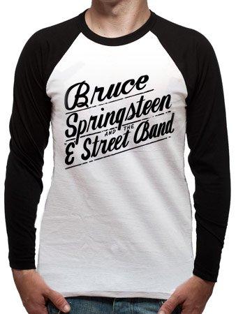 Unbekannt Herren T-Shirt Bruce Springsteen - Logo Mehrfarbig - Mehrfarbig (Weiß/Schwarz)