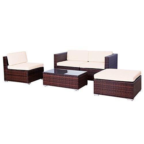 Svita Gartenset L (2 Sitze, 1 Tisch, 1 Bank) aus Rattan – variable Anordnung - 3