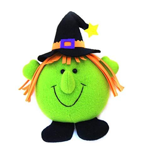 (Masterein Entzückende Hexe-Kürbis-Styles-Puppe Spielt Anhänger für Halloween Festival-Dekorationen Geschenke)