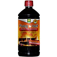 Fuegonet 231198 - Liquido para encendido, 7.2 x 27 x 7.2 cm, color negro