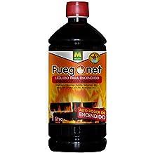 Fuegonet 231198 Liquido para Encendido Negro 7.2x27x7.2 cm
