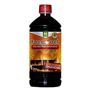 FUEGO NET Fuegonet 231198 Liquido para Encendido, Negro, 7.2x27x7.2 cm